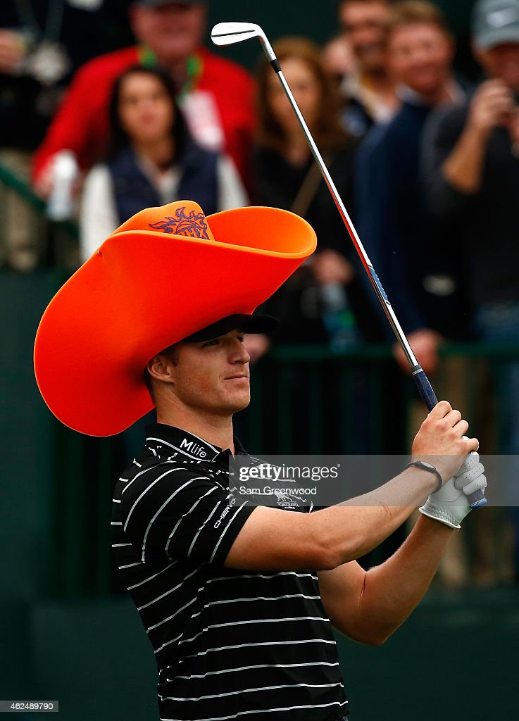 Morgan Hoffmann watches his tee shot on the 16th hole during the first round of the Waste Management Phoenix Open at TPC Scottsdale on January 29...