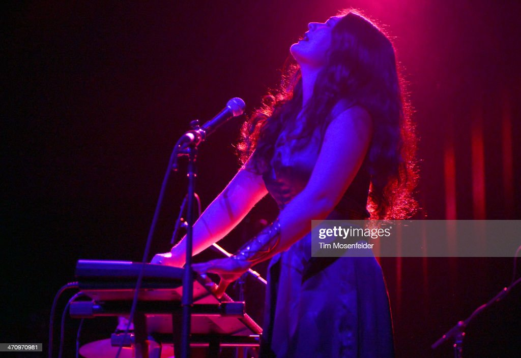 Morgan Kibby of White Sea performs in support of the band's 'In Cold Blood' release at The Fox Theatre on February 20 2014 in Oakland California