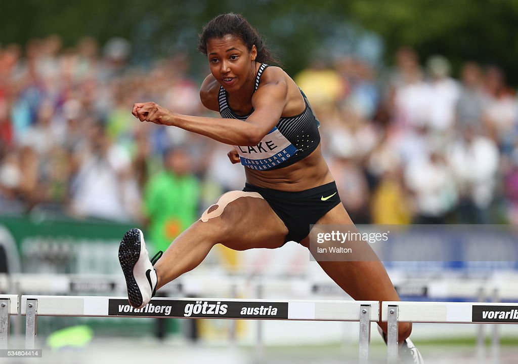 <a gi-track='captionPersonalityLinkClicked' href=/galleries/search?phrase=Morgan+Lake&family=editorial&specificpeople=7087827 ng-click='$event.stopPropagation()'>Morgan Lake</a> of Great Britain in action in the Women's Heptathlon 100 metres hurdles during the Hypomeeting Gotzis 2016 at the Mosle Stadiom on May 28, 2016 in Gotzis, Austria.