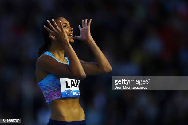 Morgan Lake of Great Britain reacts during the Womens High Jump Final during the AG Memorial Van Damme Brussels as part of the IAAF Diamond League...