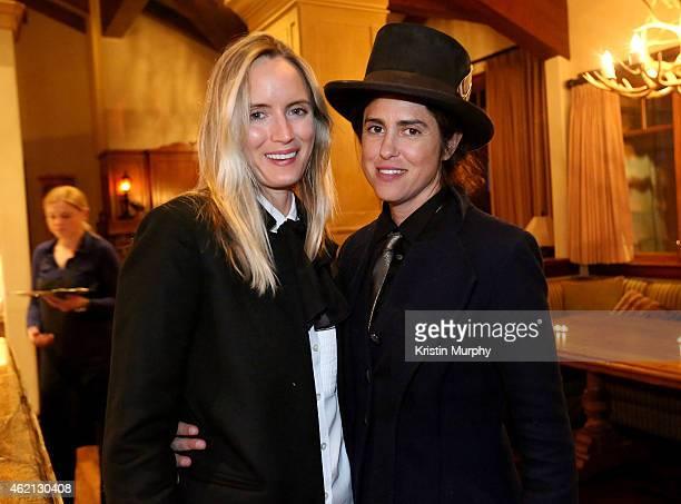 Morgan Marling and Francesca Gregorini attend the Black Label Media private dinner honoring the film '71 and filmmaker Yann Demange on January 24...