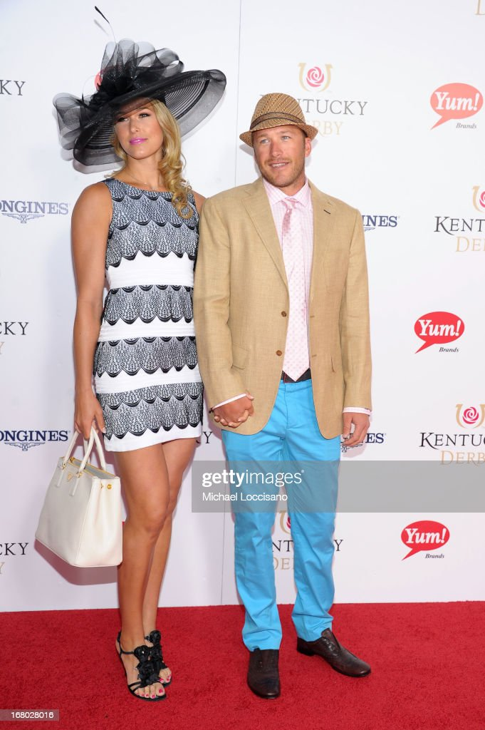 Morgan Miller and <a gi-track='captionPersonalityLinkClicked' href=/galleries/search?phrase=Bode+Miller&family=editorial&specificpeople=194742 ng-click='$event.stopPropagation()'>Bode Miller</a> attend the 139th Kentucky Derby at Churchill Downs on May 4, 2013 in Louisville, Kentucky.
