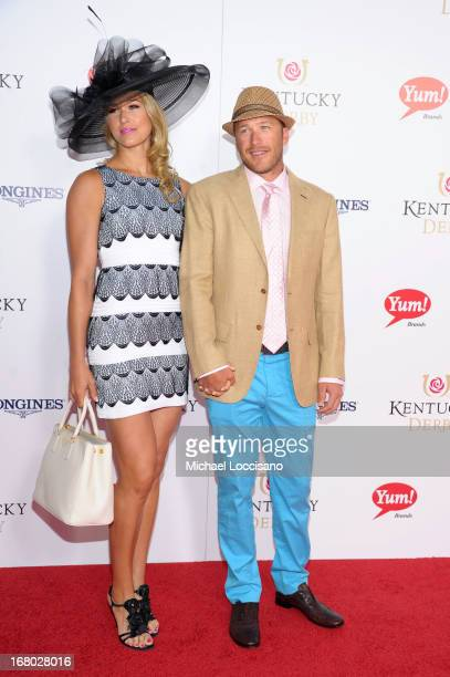 Morgan Miller and Bode Miller attend the 139th Kentucky Derby at Churchill Downs on May 4 2013 in Louisville Kentucky