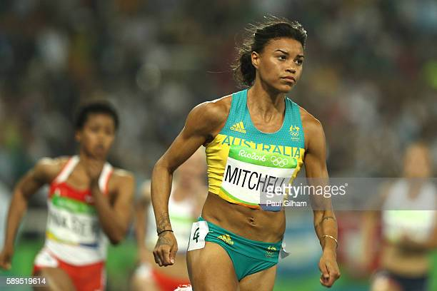 Morgan Mitchell of Australia competes in the Women's 400 meter semifinal on Day 9 of the Rio 2016 Olympic Games at the Olympic Stadium on August 14...