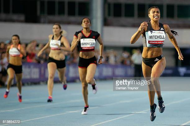 Morgan Mitchell of Australia wins the women's 400 metres during the IAAF World Challenge at Olympic Park on March 5 2016 in Melbourne Australia