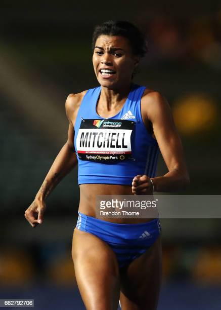 Morgan Mitchell of Victoria wins the Women's 400 Metre Open Final during day seven of the Australian Athletics Championships at Sydney Olympic Park...
