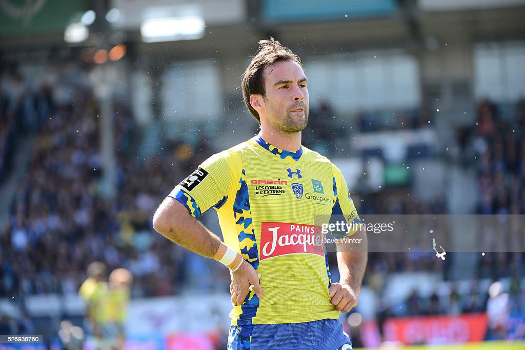 Morgan Parra of Clermont during the French Top 14 rugby union match between Racing 92 v Clermont at Stade Yves Du Manoir on May 1, 2016 in Colombes, France.