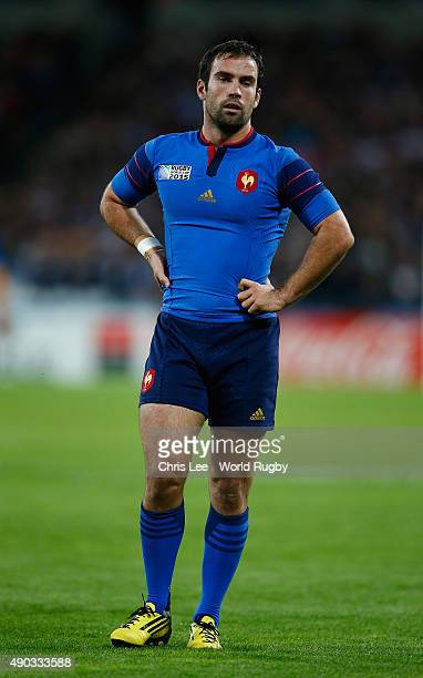 Morgan Parra of France during the 2015 Rugby World Cup Pool D match between France and Romania at Olympic Stadium on September 23 2015 in London...