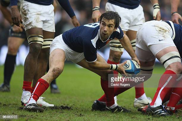 Morgan Parra of France in action during the RBS Six Nations Championship match between Scotland and France at Murrayfield Stadium on February 7 2010...