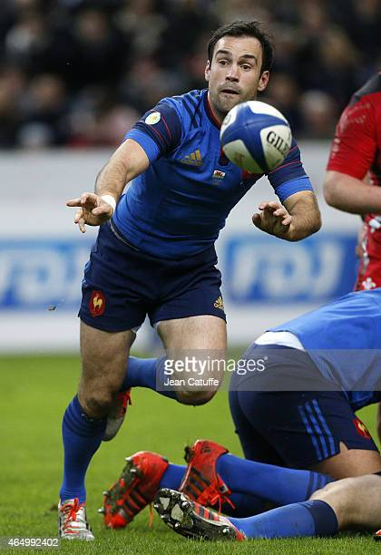 Morgan Parra of France in action during the RBS Six Nations rugby match between France and Wales at Stade de France stadium on February 28 2015 in...