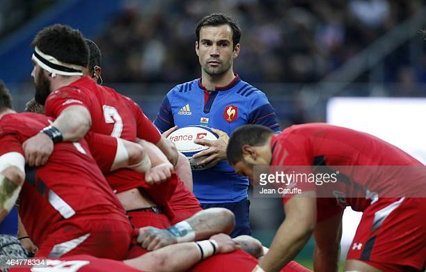 Morgan Parra of France looks on during the RBS Six Nations rugby match between France and Wales at Stade de France stadium on February 28 2015 in...