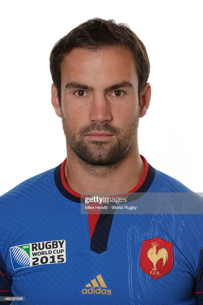 Morgan Parra of France poses during the France Rugby World Cup 2015 squad photo call at the Selsdon Park Hotel on September 15, 2015 in Croydon, England.