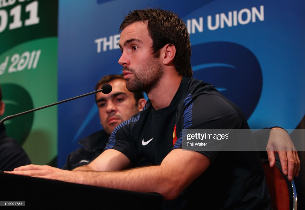 Morgan Parra of France speaks during a France IRB Rugby World Cup 2011 press conference at the Crowne Plaza Hotel on October 13, 2011 in Auckland, New Zealand.