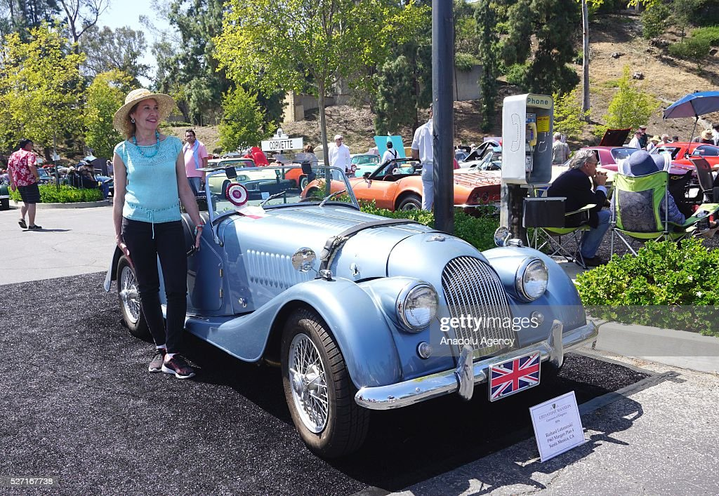 Morgan Plus 4 is on display during Concours d'Elegance at Greystone Mansion in Beverly Hills, Los Angeles, USA, on May 2, 2016. 140 classic automobiles from 18 different categories are displayed during the Concours d'Elegance classic automobile show.