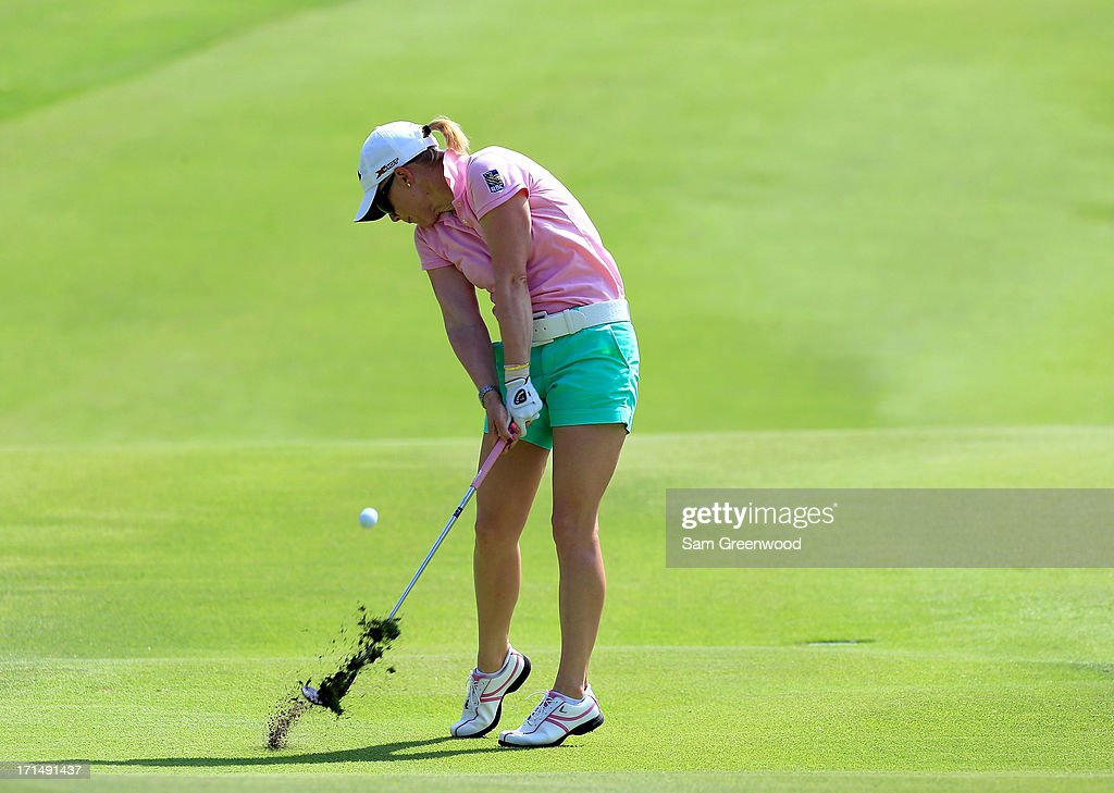 <a gi-track='captionPersonalityLinkClicked' href=/galleries/search?phrase=Morgan+Pressel&family=editorial&specificpeople=213164 ng-click='$event.stopPropagation()'>Morgan Pressel</a> plays a shot during the second round of the Walmart NW Arkansas Championship Presented by P&G at the Pinnacle Hills Country Club on June 22, 2013 in Rogers, Arkansas.