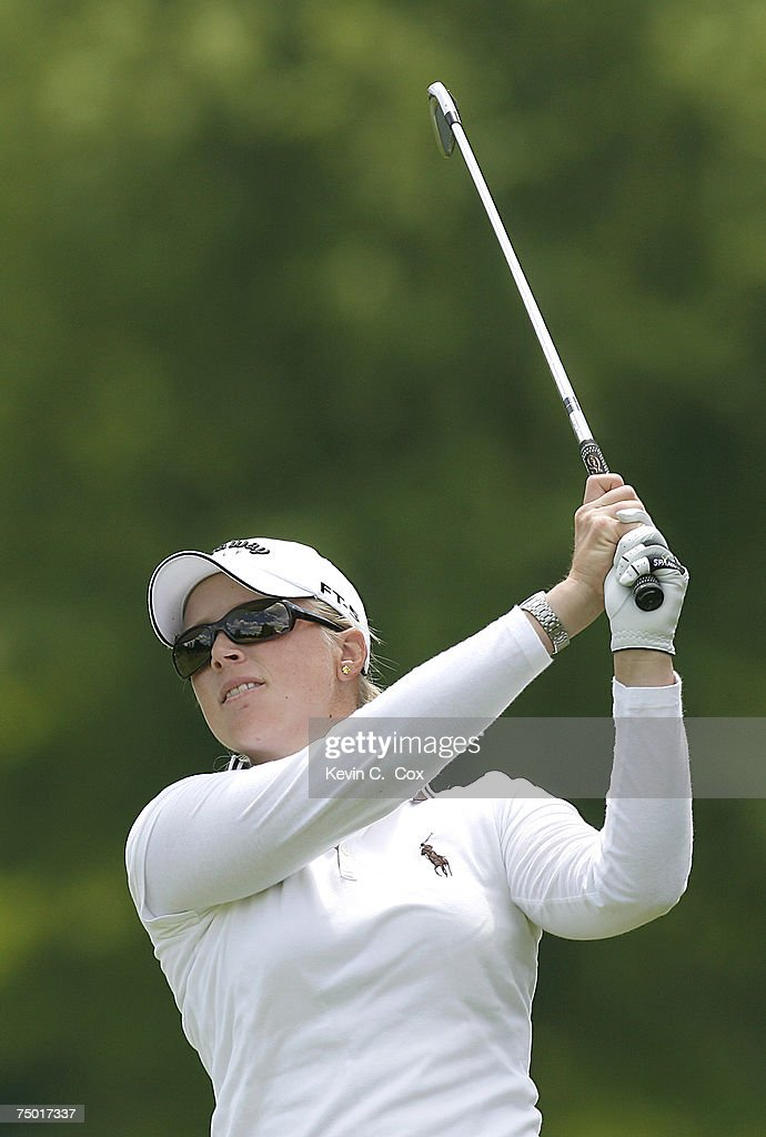 Morgan Pressel plays her third shot from the seventh fairway during the first round of the 2007 Sybase Classic Presented by ShopRite Thursday May 17...