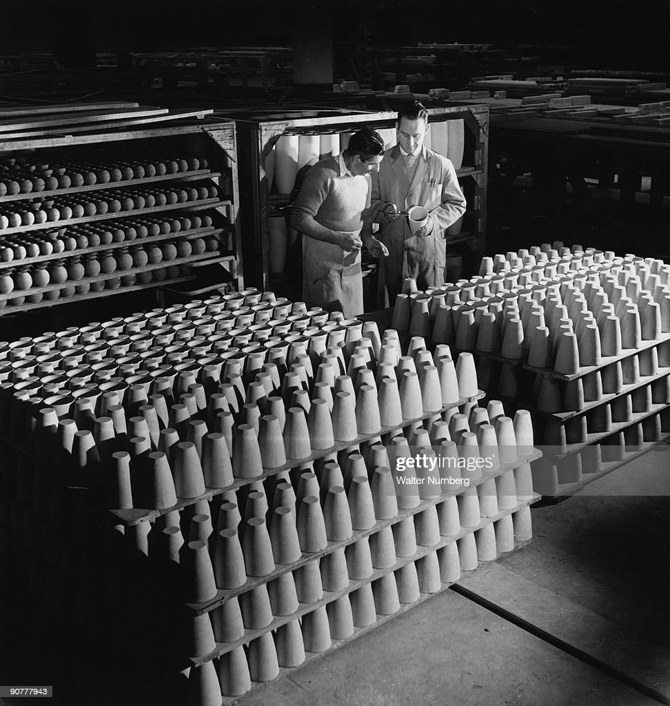 Morgan Thermal Ceramics Battersea Ware Crucibles Are Removed From The Kiln 1961