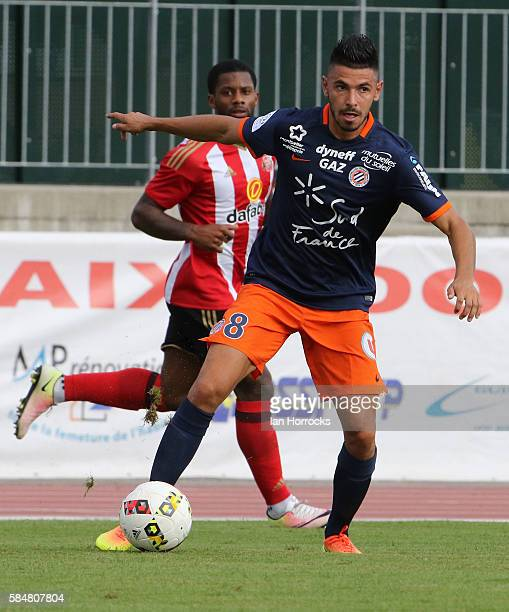 Morgan Sanson of Montpellier during the preseason friendly match between Sunderland AFC and Montpellier HSC at Stade Jacques Forestier on July 30...