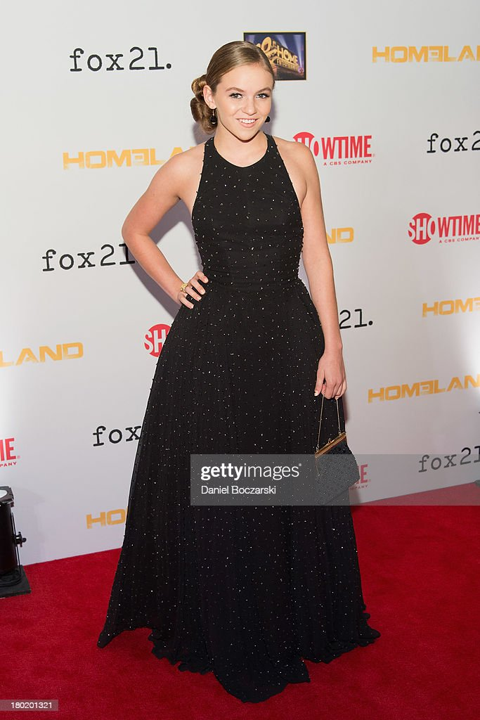 <a gi-track='captionPersonalityLinkClicked' href=/galleries/search?phrase=Morgan+Saylor&family=editorial&specificpeople=8047326 ng-click='$event.stopPropagation()'>Morgan Saylor</a> attends a premiere screening hosted by SHOWTIME and Fox 21 for Season 3 of the hit series 'Homeland' at Corcoran Gallery of Art on September 9, 2013 in Washington City.