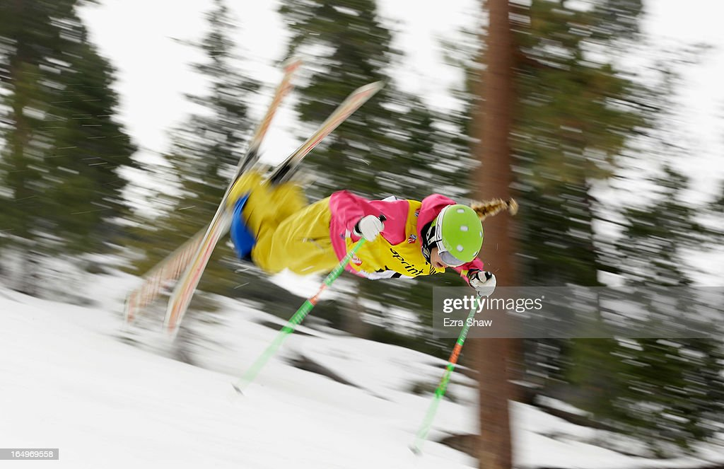Morgan Schild competes in the Ladie's Moguls at the U.S. Freestyle Moguls National Championship at Heavenly Resort on March 29, 2013 in South Lake Tahoe, California.
