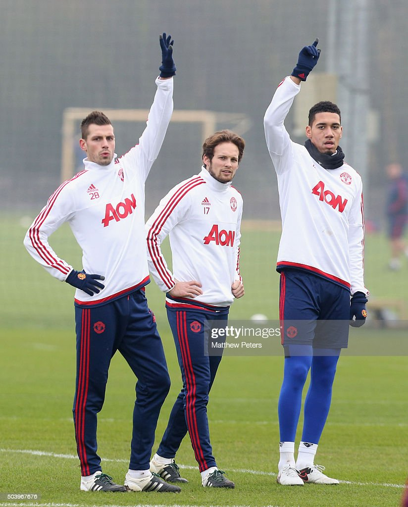 manchester united training and press conference getty images. Black Bedroom Furniture Sets. Home Design Ideas