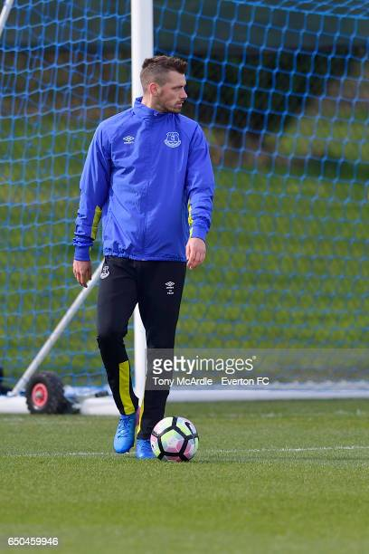 Morgan Schneiderlin during the Everton FC training session at USM Finch Farm on March 9 2017 in Halewood England