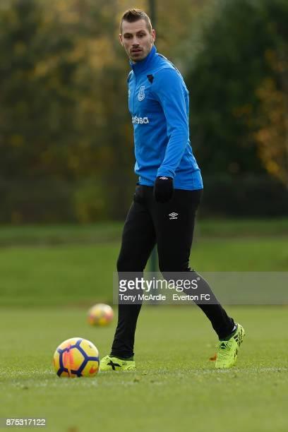 Morgan Schneiderlin during the Everton Training session at USM Finch Farm on November 17 2017 in Halewood England