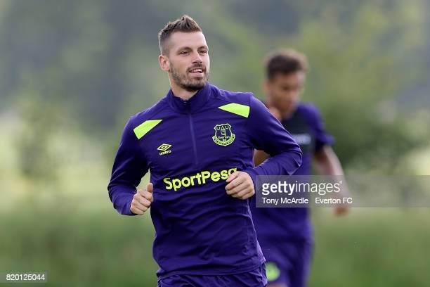 Morgan Schneiderlin during the Everton training session on July 21 2017 in De Lutte Netherlands