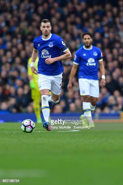 Morgan Schneiderlin during the Premier League match between Everton and West Bromwich Albion at the Goodison Park on March 11 2017 in Liverpool...