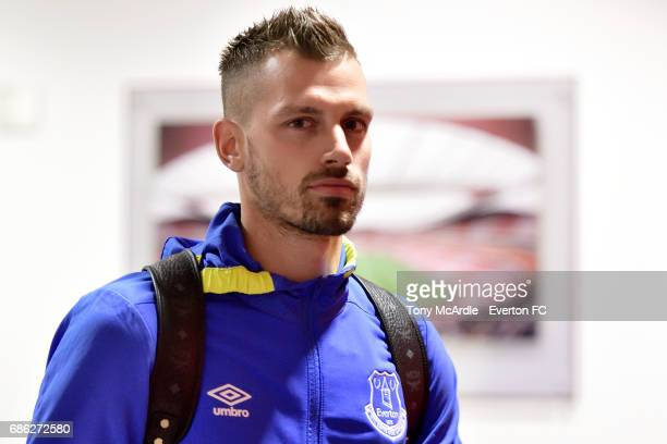 Morgan Schneiderlin of Everton arrives before before the Premier League match between Arsenal v Everton at Emirates Stadium on May 21 2017 in London...