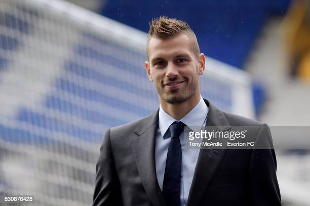 Morgan Schneiderlin of Everton arrives before the Premier League match between Everton and Stoke City at Goodison Park on August 12 2017 in Liverpool...