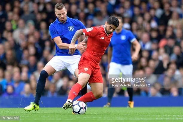 Morgan Schneiderlin of Everton during the Pre Season Friendly match between Everton and Sevilla at Goodison Park on August 6 2017 in Liverpool England