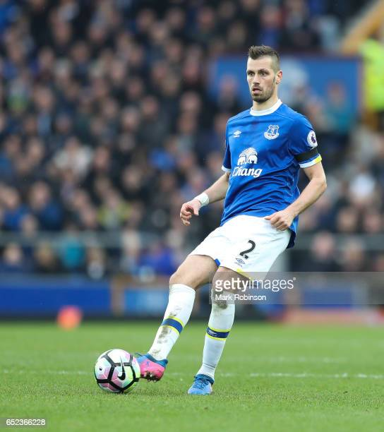 Morgan Schneiderlin of Everton during the Premier League match between Everton and West Bromwich Albion at Goodison Park on March 11 2017 in...
