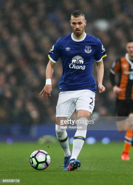 Morgan Schneiderlin of Everton during the Premier League match between Everton and Hull City at Goodison Park on March 18 2017 in Liverpool England