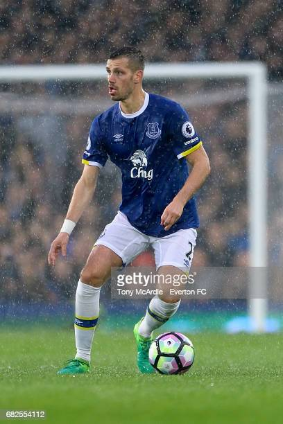 Morgan Schneiderlin of Everton during the Premier League match between Everton and Watford at Goodison Park on May 12 2017 in Liverpool England