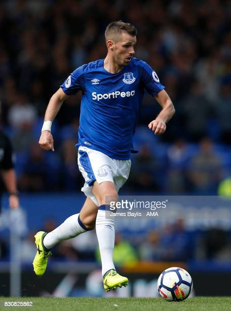 Morgan Schneiderlin of Everton during the Premier League match between Everton and Stoke City at Goodison Park on August 12 2017 in Liverpool England