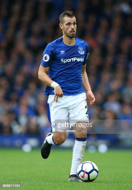 Morgan Schneiderlin of Everton during the Premier League match between Everton and Burnley at Goodison Park on October 1 2017 in Liverpool England