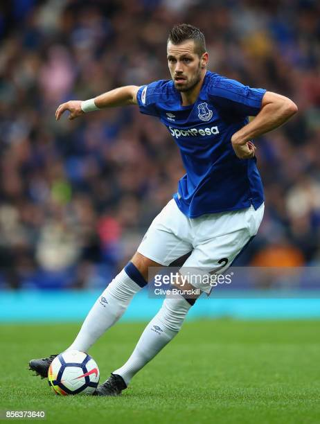 Morgan Schneiderlin of Everton in action during the Premier League match between Everton and Burnley at Goodison Park on October 1 2017 in Liverpool...