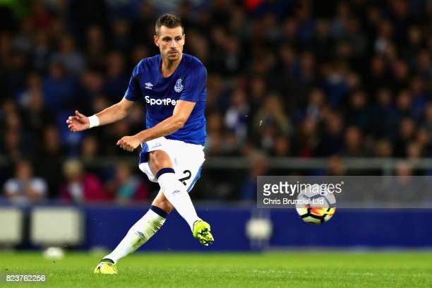 Morgan Schneiderlin of Everton in action during the UEFA Europa League Third Qualifying Round First Leg match between Everton and MFK Ruzomberok at...