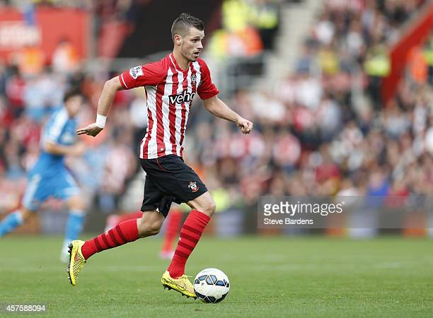 Morgan Schneiderlin of Southampton in action during the Barclays Premier League match between Southampton and Sunderland at St Mary's Stadium on...