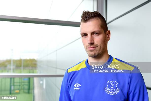 Morgan Schneiderlin poses for a photo at USM Finch Farm on April 13 2017 in Halewood England