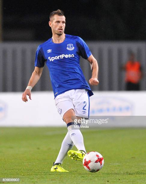 Morgan Schneiderlin reacts during the UEFA Europa League Qualifier between MFK Ruzomberok and Everton on August 3 2017 in Ruzomberok Slovakia