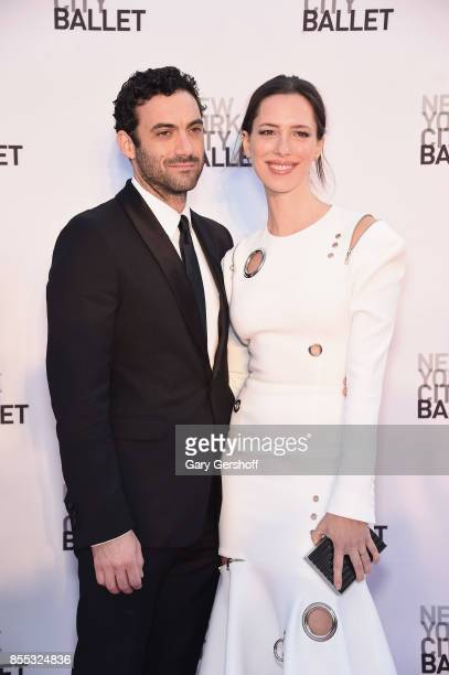Morgan Spector and Rebecca Hall attend the New York City Ballet's 2017 Fall Fashion gala at David H Koch Theater at Lincoln Center on September 28...