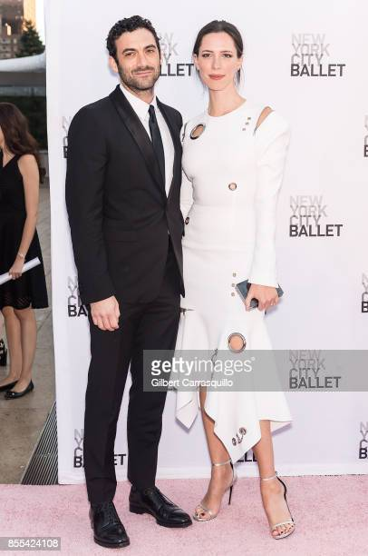 Morgan Spector and Rebecca Hall attends the New York City Ballet's 2017 Fall Fashion Gala at David H Koch Theater at Lincoln Center on September 28...