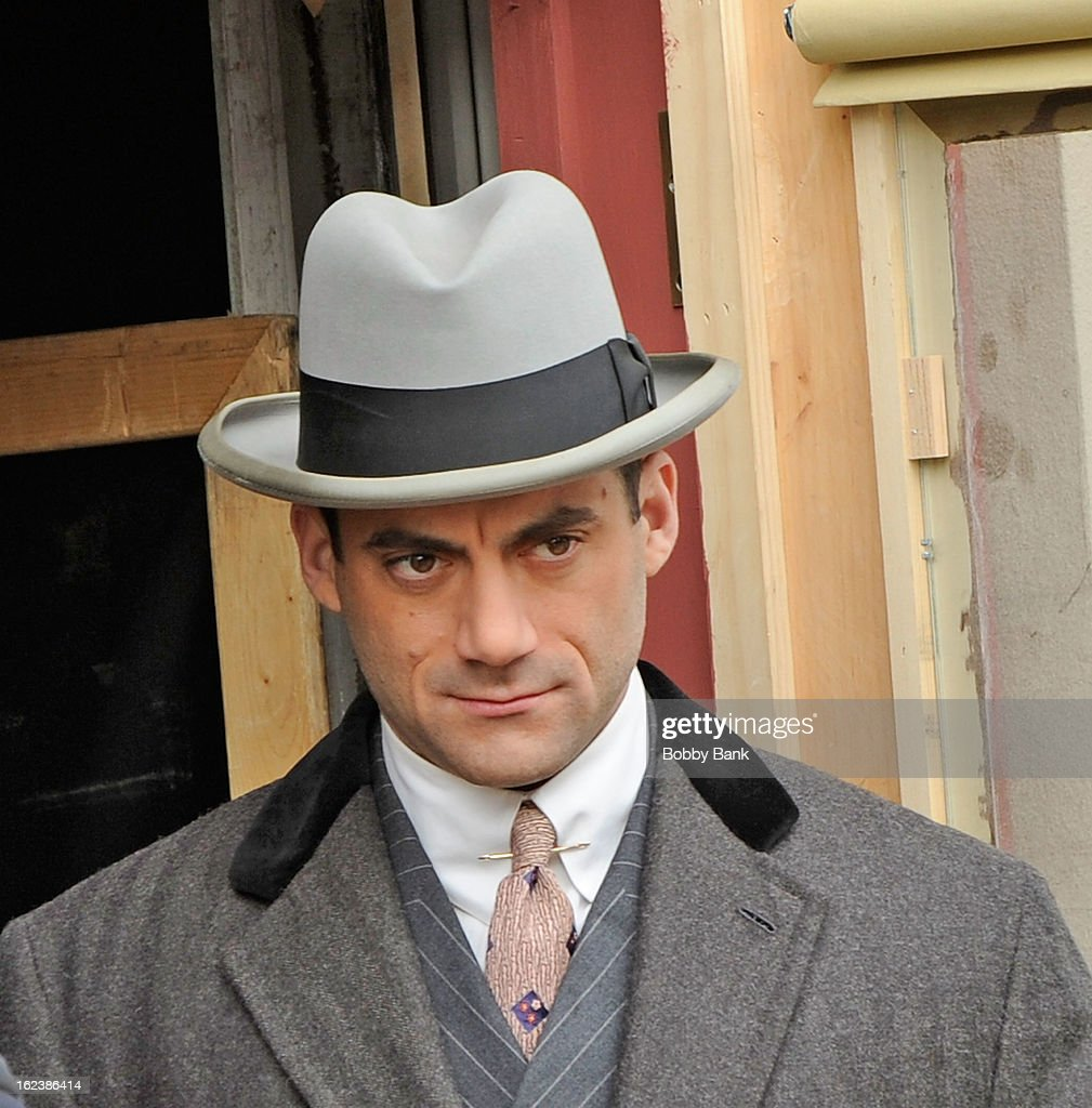 Morgan Spector filming on location for 'Boardwalk Empire' on February 22, 2013 in the Staten Island borough of New York City.