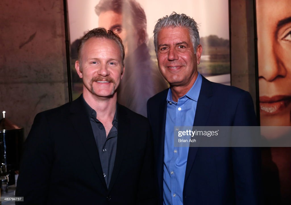 <a gi-track='captionPersonalityLinkClicked' href=/galleries/search?phrase=Morgan+Spurlock&family=editorial&specificpeople=212719 ng-click='$event.stopPropagation()'>Morgan Spurlock</a> and <a gi-track='captionPersonalityLinkClicked' href=/galleries/search?phrase=Anthony+Bourdain&family=editorial&specificpeople=2310617 ng-click='$event.stopPropagation()'>Anthony Bourdain</a> attend the CNN Upfront 2014 at Skylight Modern on April 10, 2014 in New York City. 24679_003_0142.JPG