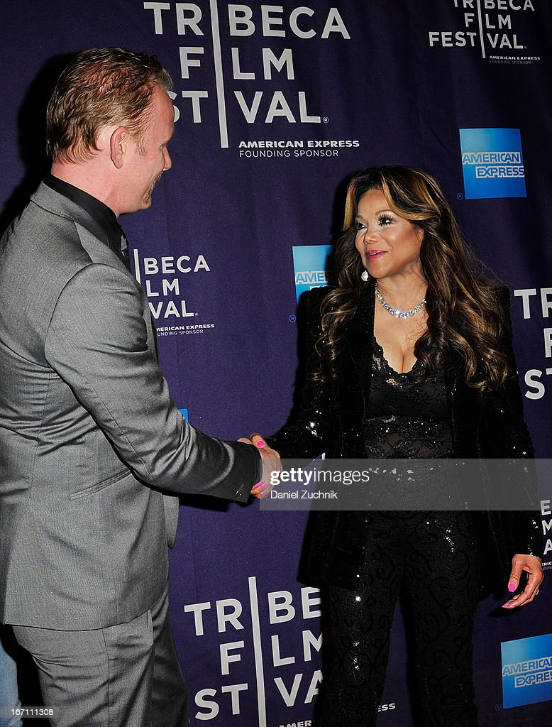 <a gi-track='captionPersonalityLinkClicked' href=/galleries/search?phrase=Morgan+Spurlock&family=editorial&specificpeople=212719 ng-click='$event.stopPropagation()'>Morgan Spurlock</a> and La Toya Jackson attend the screening of 'Dancing in Jaffa' during the 2013 Tribeca Film Festival at AMC Loews Village 7 on April 20, 2013 in New York City.