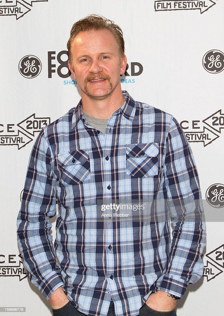 Morgan Spurlock arrives to GE / Focus Forward - Short Films Big Ideas Filmmaker Competition Awards Ceremony - 2013 Park City on January 22, 2013 in Park City, Utah.