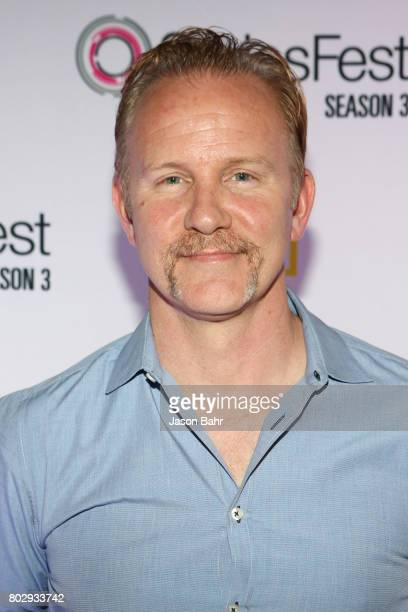 Morgan Spurlock arrives to the Warrior Poets panel discussion during SeriesFest Season 3 at Sie FilmCenter on June 28 2017 in Denver Colorado