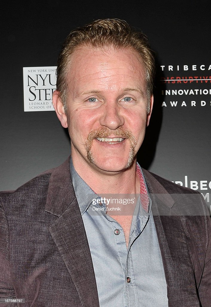 Morgan Spurlock attends the 4th annual Tribeca Disruptive Innovation Awards during the 2013 Tribeca Film Festival at NYU Paulson Auditorium on April 26, 2013 in New York City.